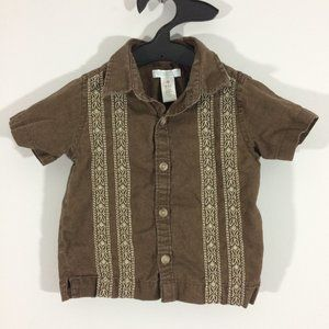 Old Navy Baby 6-12M Embroidered Button Up Shirt